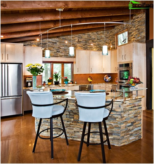 Furniture for a kitchen from a stone - 2