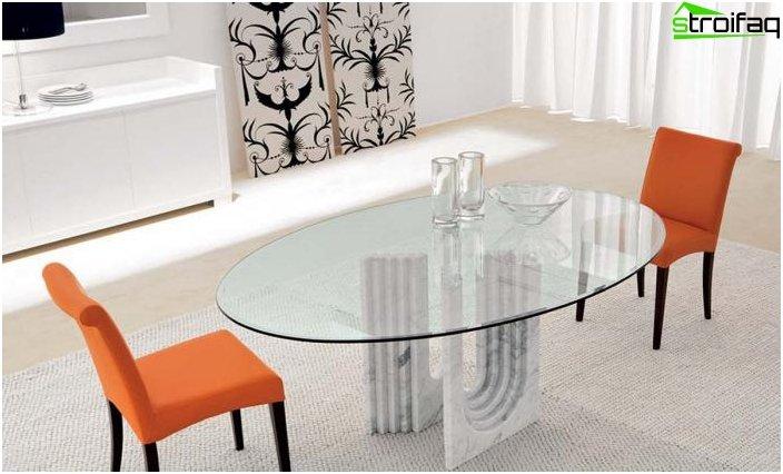 Ovalformet spisebord - 4