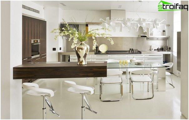 Møbler til køkkenet (vægbord) - 1