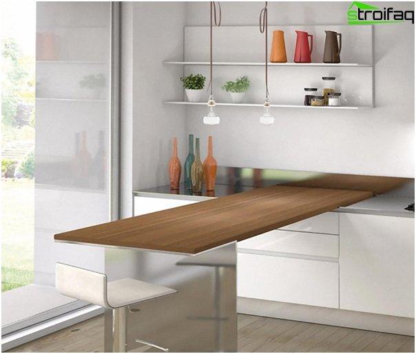 Møbler til køkkenet (vægbord) –2