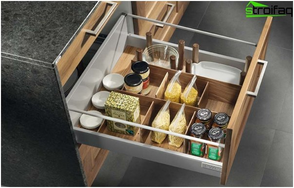 Kitchen furniture (cabinets and drawers) –2