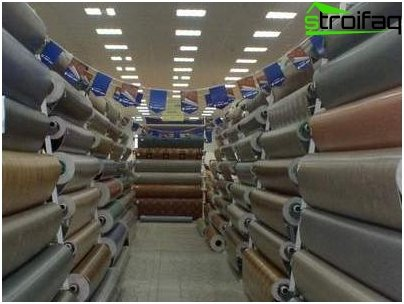 How to choose linoleum in the store