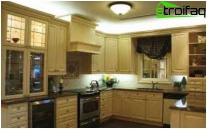 إضاءة المطبخ مع معدات LED