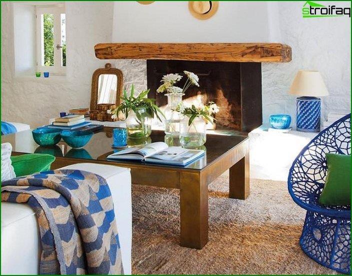 Interior al estilo del minimalismo mediterráneo 1