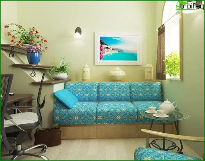 Interior al estilo del minimalismo mediterráneo 4