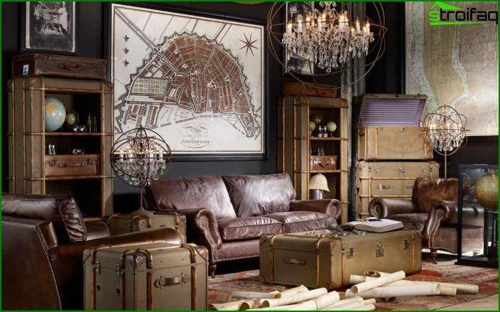 Interior en estilo retro vintage 1