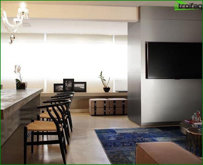 Interior en estilo moderno 7