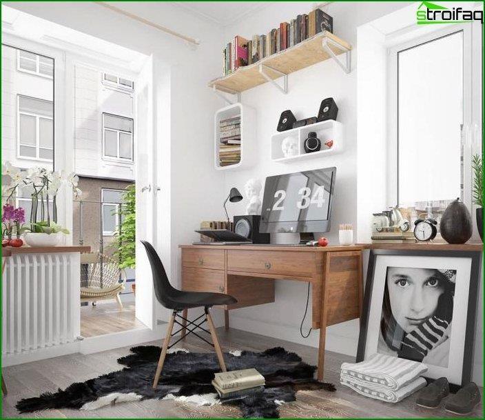 Mesa de ordenador en el interior 1