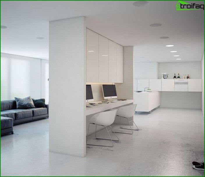 Mesa de ordenador en el interior 6