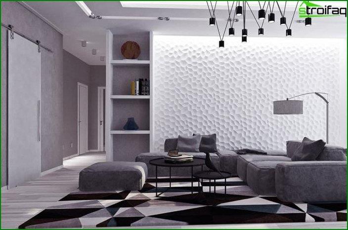 Diseño de paredes en el interior 4