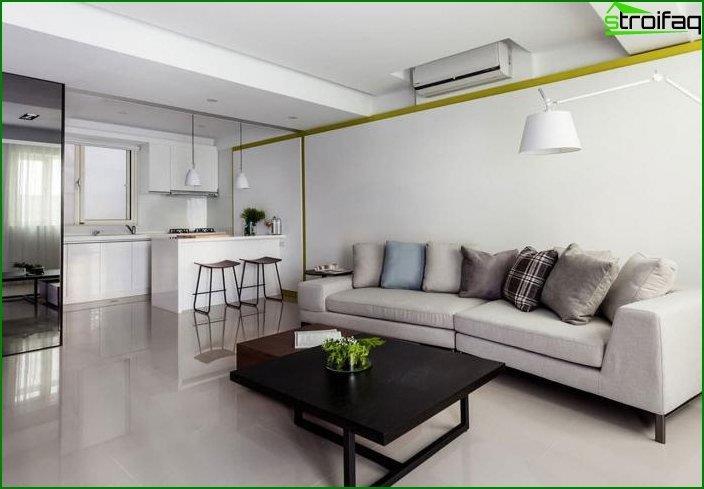 Diseño de una cocina-sala de estar 1
