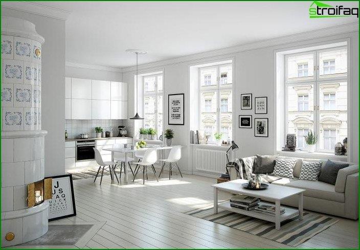 Diseño de cocina-sala de estar 4