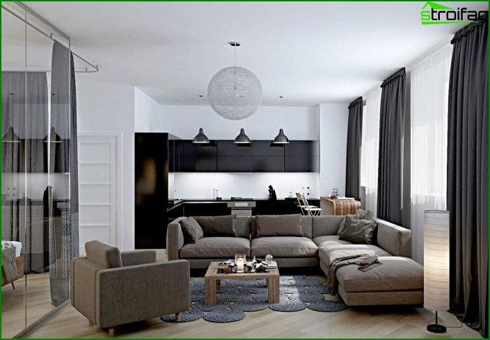 Diseño de cocina-sala 5