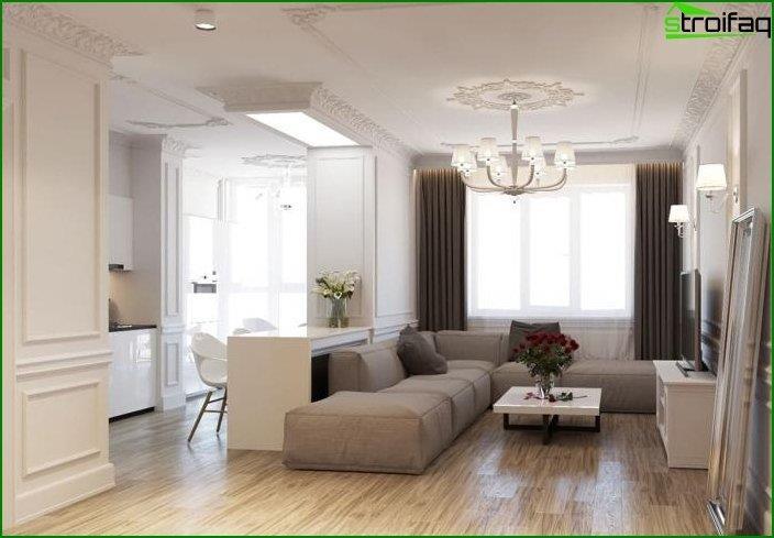 Diseño de cocina-sala de estar 6