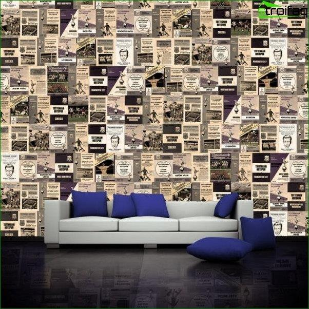 Photo wallpaper design for the hall