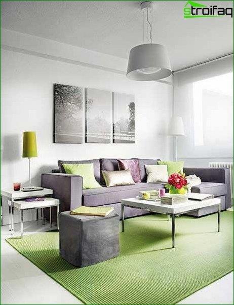 Foto del interior de la sala de estar.