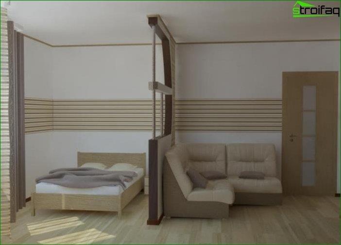 Foto diseño dormitorio-salón