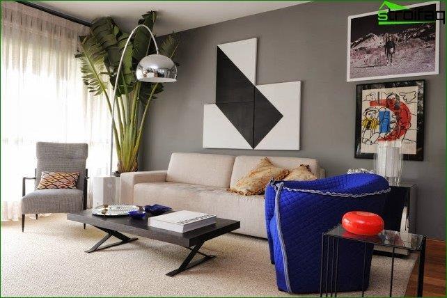 Diseño de interiores en un estilo moderno.