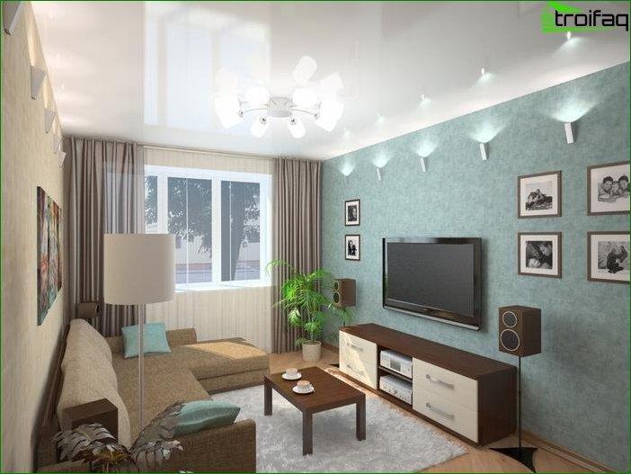 Salón de diseño 16 sq. metro