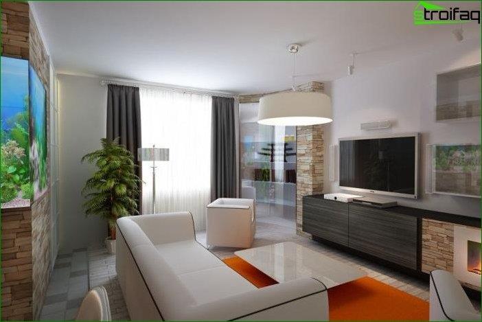 Foto diseño sala de estar 16 sq. metro