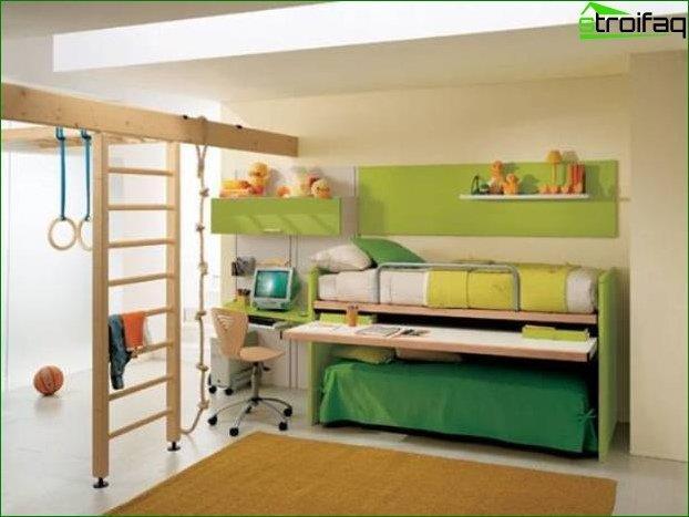 Habitación de diseño para dos niños.