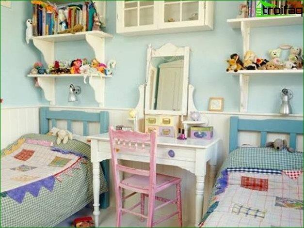Diseño de sala para dos chicas.