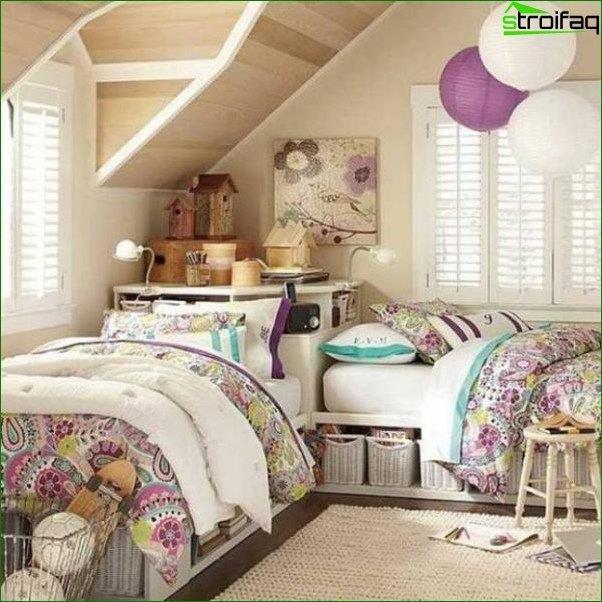 Diseño de habitaciones para dos niñas 2