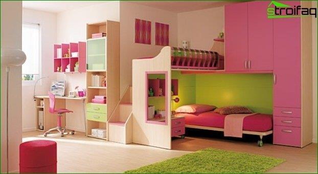 Diseño de habitaciones para dos niñas 3