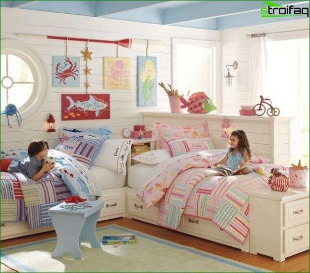 Diseña una habitación para un niño y una niña 2