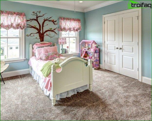 Los estilos de la habitación de los niños.