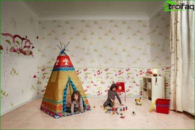 Habitación mediana para niños