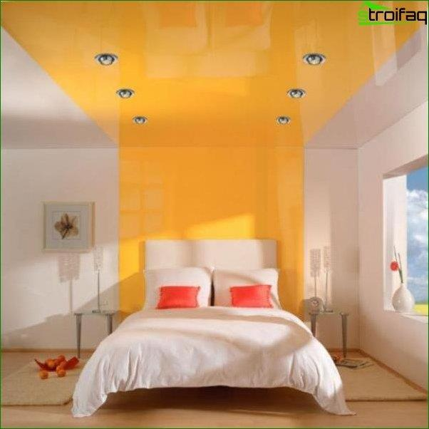 Design of the plasterboard ceiling in the bedroom