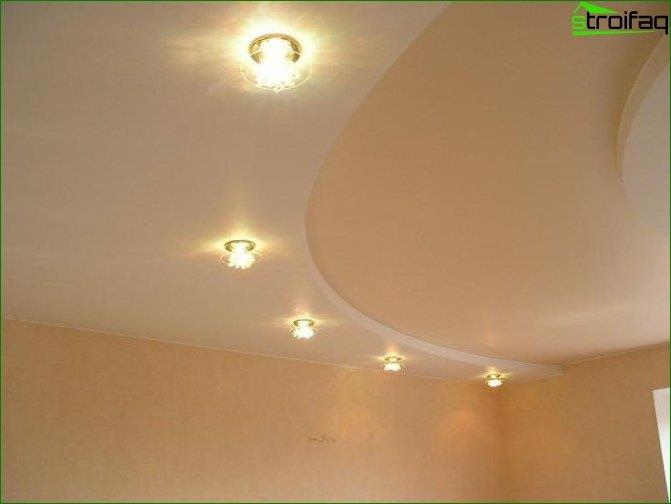 Photo of a plasterboard ceiling