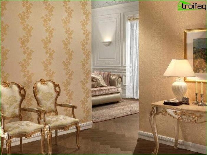 Papel tapiz fotográfico para el salón