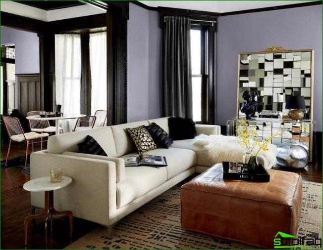 El espejo facetado puede transformar la sala de estar y agregarle conejitos brillantes en un día soleado.
