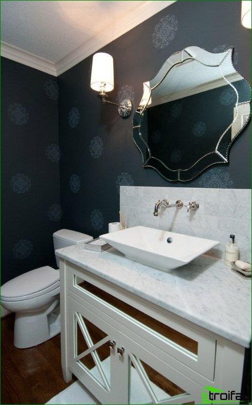 La faceta curva se usa para crear formas redondeadas, líneas suaves de un espejo personalizado