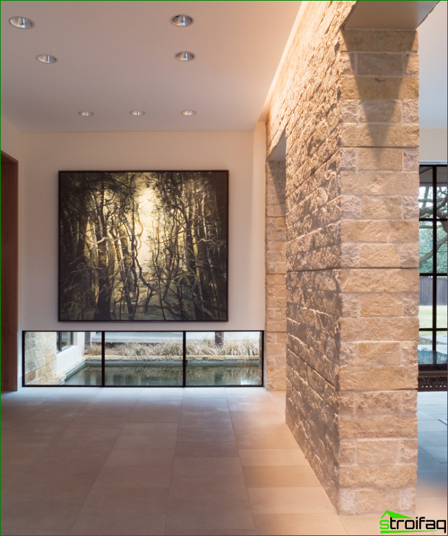 wildlife: paintings - a wide contemporary picture in a spacious hall