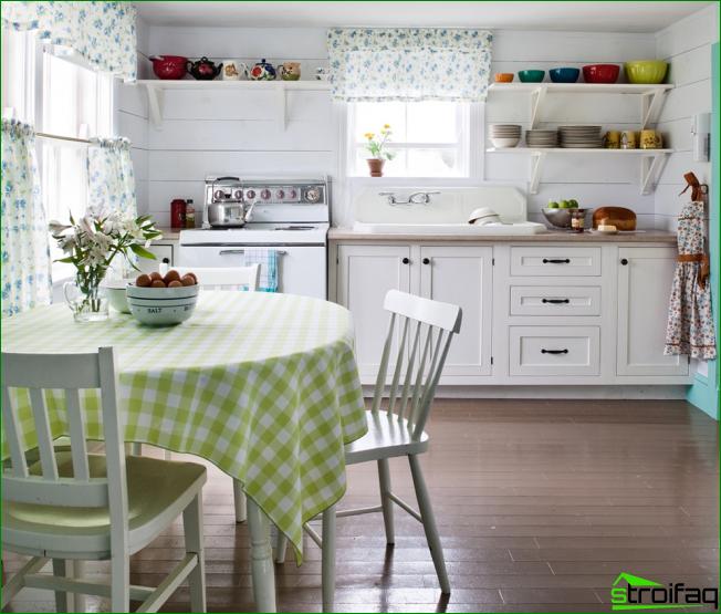 Provence-tyyli keittiön suunnittelussa