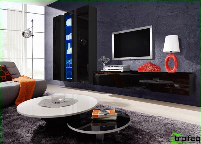 Luxurious and stylish black gloss