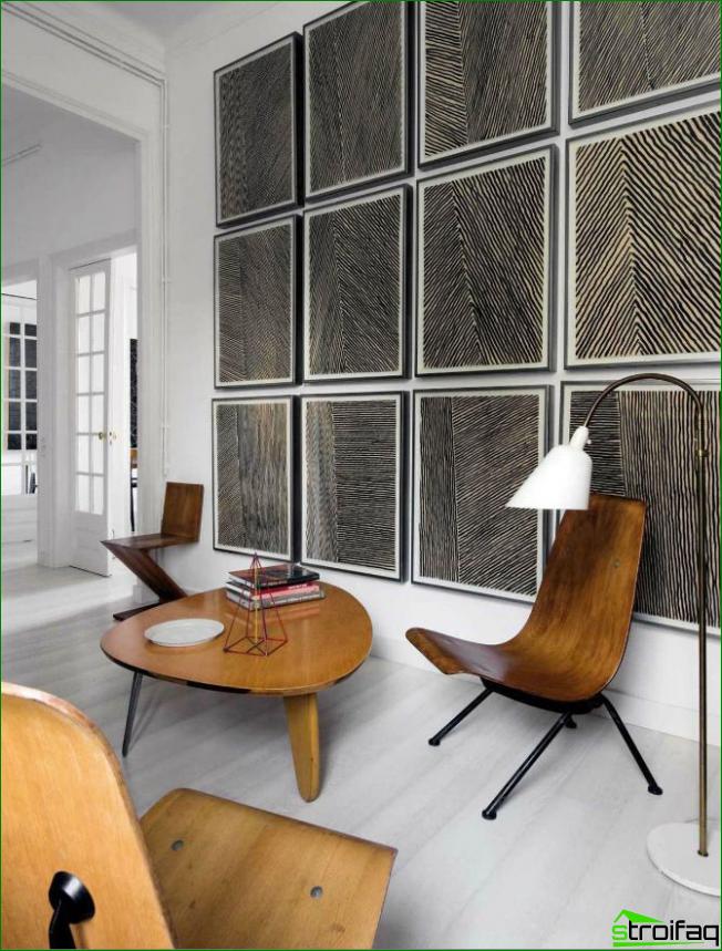 Solución creativa para la decoración de paredes ligeras.