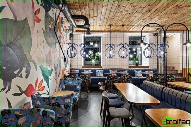Cafetería moderna decoración de interiores