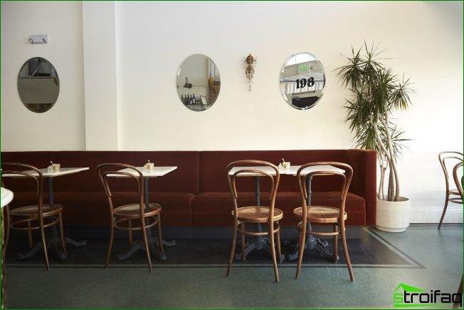 Cafetería tradicional con énfasis en el estilo retro.