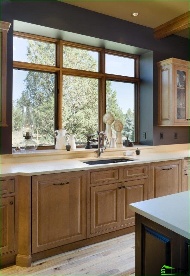 You can highlight a part of the window-sill with a slight elevation near the window frame, which will resemble a classic window sill
