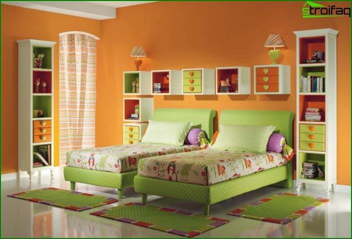 Cómo hacer un interior de habitación para dos niñas 5