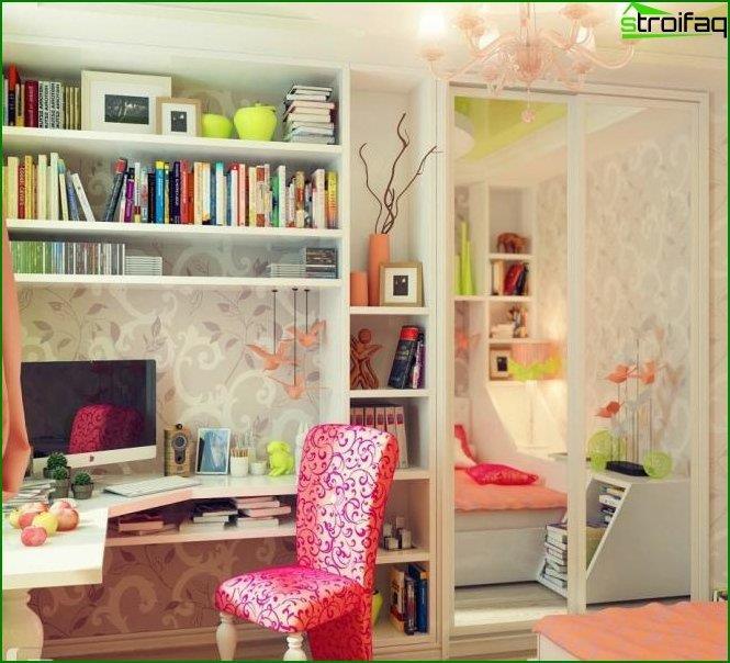 Habitación interior para niña