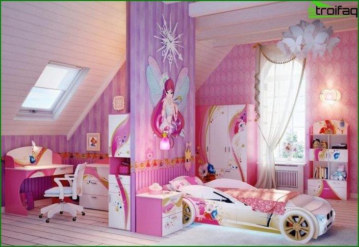 Habitación interior para una niña 2