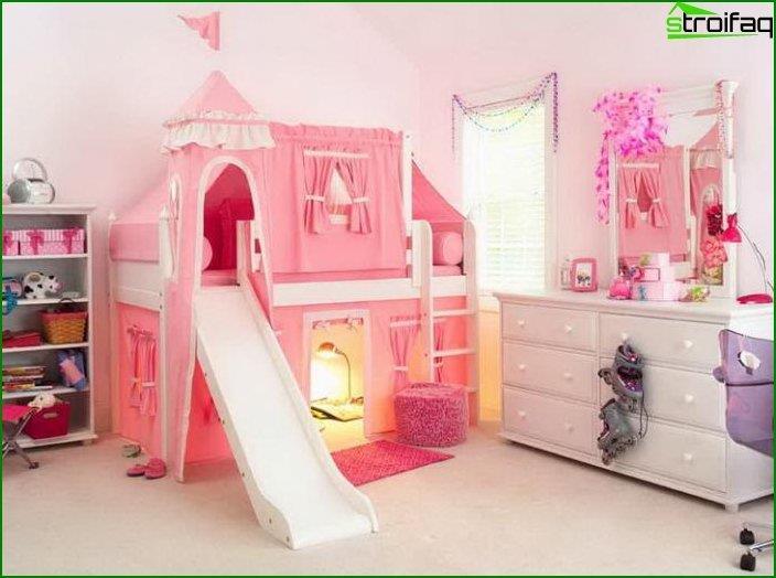 Habitación interior para una niña 3