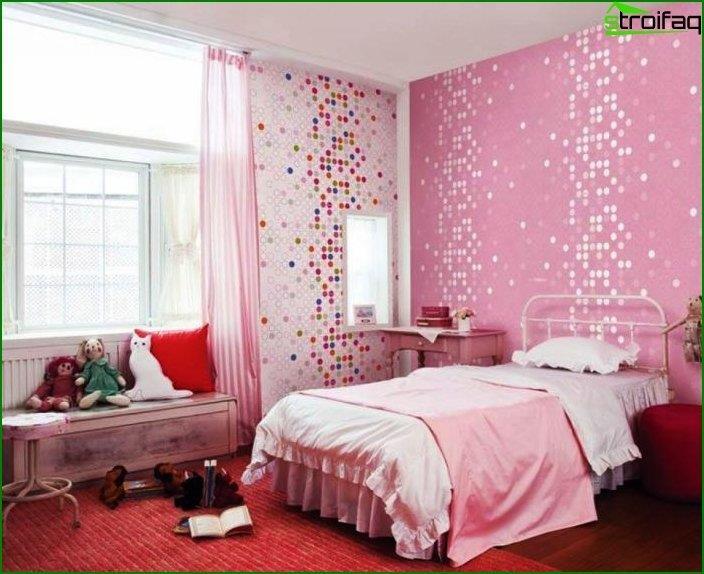El interior de la habitación para la niña 5