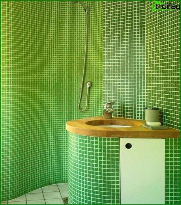 Tile green in the interior of the bathroom - 2