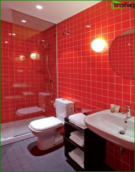 Tile of different colors in the interior of the bathroom - 3